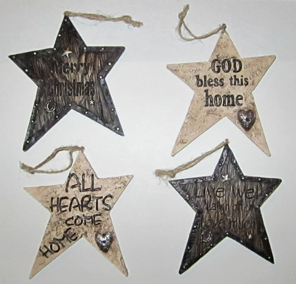 Western Star Messages Christmas Ornaments Set Of 4 Brand New Ebay