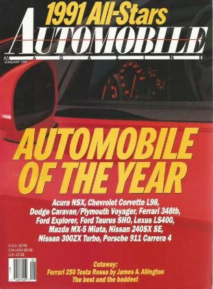 AUTOMOBILE 1991 JAN - NSX, DIABLO, CARTECH MIATA