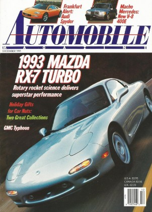 AUTOMOBILE 1991 DEC - RX-7 TURBO TESTED, TYPHOON