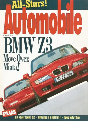 AUTOMOBILE 1996 FEB - NEW BMW M3, McLAREN F1 TESTED