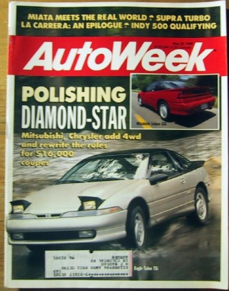 AUTOWEEK 1989 MAY 22 - ECLIPSE GSX & TSI, SUPRA TURBO