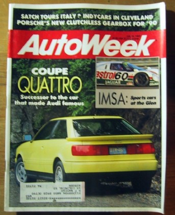 AUTOWEEK 1989 JULY 10 - NEW AUDI QUATTRO & ALFA 164