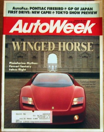 AUTOWEEK 1989 OCT 30 - GINTHER, 5.7L FIREBIRD, MYTHOS