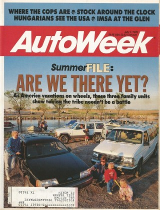 AUTOWEEK 1990 JULY 09 - PAUL NEWMAN, PREVIA, TAURUS WAGON, PACKARD ONE TWENTY