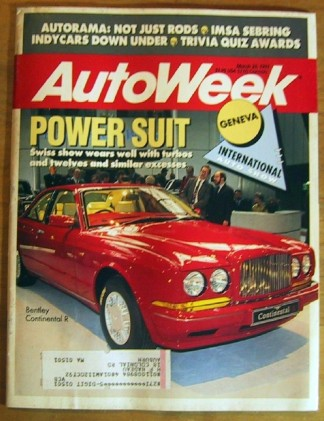 AUTOWEEK 1991 MAR 25 - AUTORAMA & GENEVA SHOWS, 3000GT