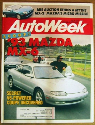 AUTOWEEK 1991 JULY 29 - MAZDA SPECIAL, BROOKS STEVENS