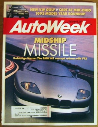AUTOWEEK 1991 SEPT 23 - NAZCA M1, NEW CARS FOR '92