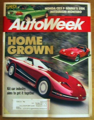 AUTOWEEK 1991 DEC 02 - FIERO-PATRIOT, SENNA, KIT CARS