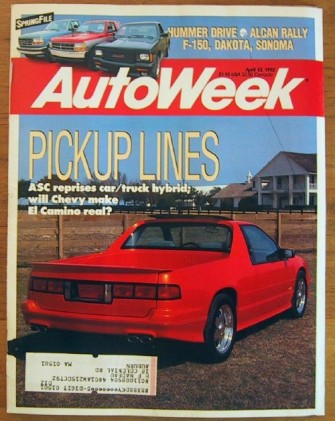 AUTOWEEK 1992 APR 13 - HOT PICKUPS, RAHAL & MANSELL WIN