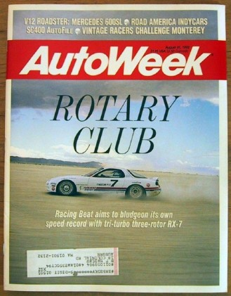 AUTOWEEK 1992 AUG 31 - LANDSPEED RX-7, NEW LEXUS SC400*