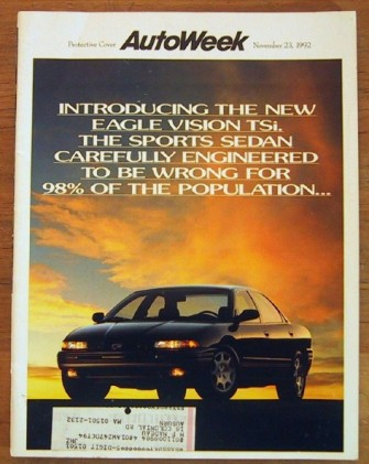 AUTOWEEK 1992 NOV 23 - HIGH-MILEAGE CARS, SHELBY SERIES
