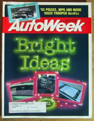 AUTOWEEK 1993 FEB 15 - LATEST NEW CAR GIZMOS, TROOPER