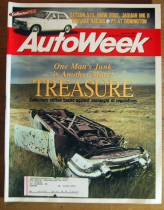 AUTOWEEK 1993 APR 19 - McGRIFF LaCARRERA, HOT OLD CARS