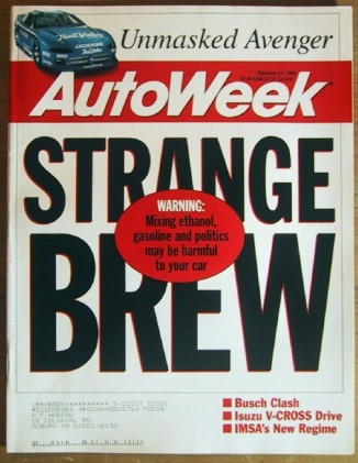 AUTOWEEK 1994 FEB 21 - IROC AVENGER, NEW XR2 & 840Ci