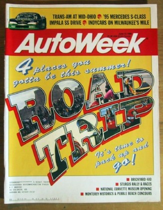 AUTOWEEK 1994 JUNE 13 - ROAD TRIPS, IMPALA SS, 25TH T/A