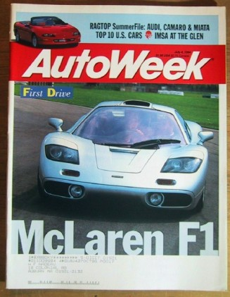AUTOWEEK 1994 JULY 04 - McLAREN F1, Z28 & MIATA TESTS