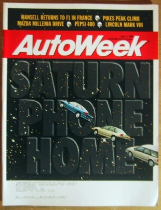 AUTOWEEK 1994 JULY 11 - 50 years of SCCA, GRANDS PRIX