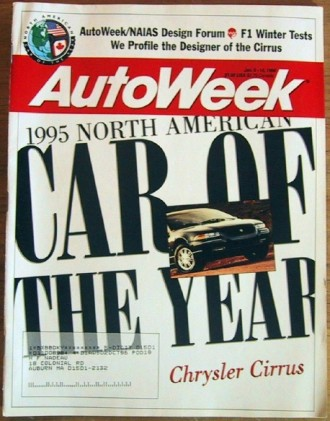 AUTOWEEK 1995 JAN 09 - CAR of the YEAR, AUTO DESIGN