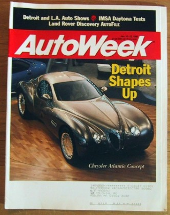 AUTOWEEK 1995 JAN 16 - AUTO SHOWS, SAAB 9000CS TEST