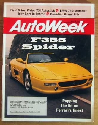 AUTOWEEK 1995 JUNE 19 - F355, 740i & MUSTANG GT TESTED