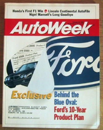 AUTOWEEK 1995 OCT 23 - NEW CONTINENTAL, NIGEL MANSELL