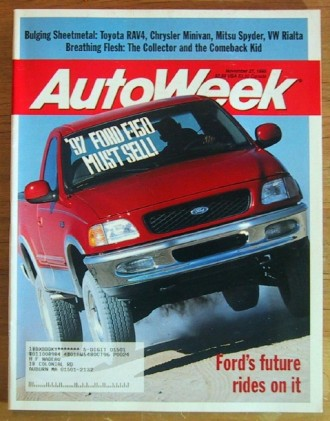 AUTOWEEK 1995 NOV 27 - SCOTT PRUETT, NEW RAV4 & VR-4
