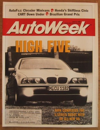 AUTOWEEK 1996 APR 08 - BMW 540i M62 & ECLIPSE GS-T TEST
