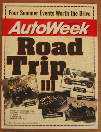 AUTOWEEK 1996 MAY 27 - ROAD TRIPS, NEW 911 CARRERA 4S