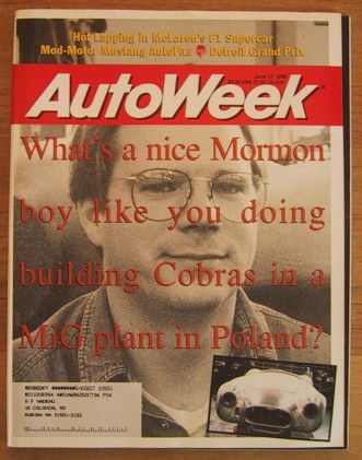 AUTOWEEK 1996 JUNE 17 - MUSTANG GT TESTED, NEW COBRAS