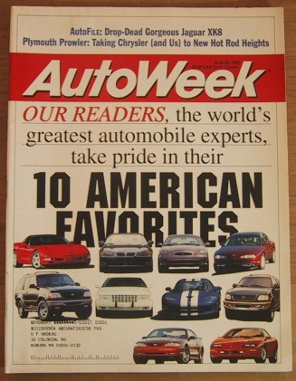 AUTOWEEK 1997 JUNE 30 - PROWLER, XK8 & ALTIMA TESTED