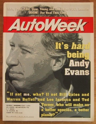 AUTOWEEK 1997 OCT 27 - THRUST GOES BOOM, ANDY EVANS PSR