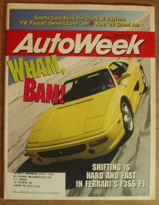 AUTOWEEK 1998 FEB 09 - F355 F1 TEST, 24-Hr of DAYTONA