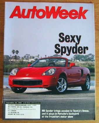 AUTOWEEK 1999 SEPT 20 - TOYOTA MR-SPYDER TESTED, WAGONS