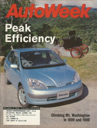 AUTOWEEK 1999 DEC 06 - VOLVO S80 T6, '36 CORD 810, ALTERNATE FUEL CARS