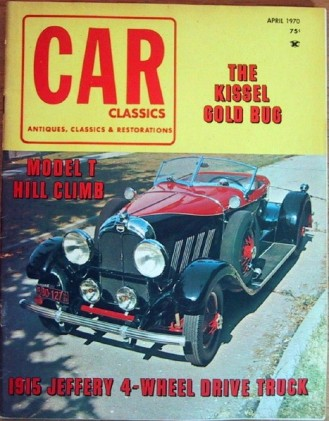 CAR CLASSICS 1970 APR Vol3 #2 - GOLD BUG, MOVIE CARS