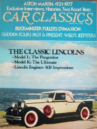 CAR CLASSICS 1977 JUNE Vol9 #3 - LINCOLN & ASTON Spcl