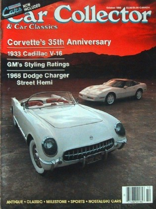 CAR COLLECTOR & CAR CLASSICS 1988 OCT - 35YRS VETTE, '33 CADDY, '66 DODGE