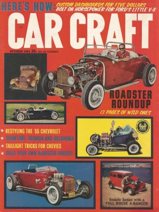 CAR CRAFT 1963 OCT - COOL ROADSTER Spcl, HOT FORD PARTS