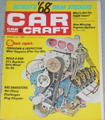 CAR CRAFT 1967 OCT - NANCY DOES A RAT, PISANO BROS.
