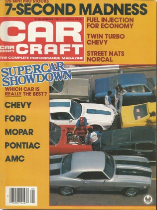 CAR CRAFT 1981 SEPT - MUSCLECAR SHOOTOUT, PRO STOCK