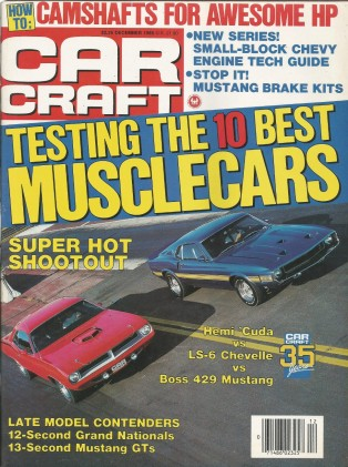 CAR CRAFT 1988 DEC - MUSCLE-CARS DRAGS, HEMI DROP TOPS