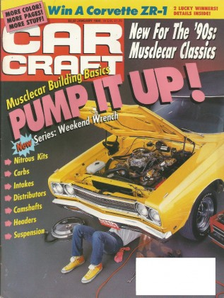CAR CRAFT 1990 JAN - GSX STAGE 2, HEMI CUDA & GTX
