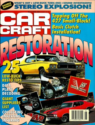 CAR CRAFT 1990 JUNE - SLP FORMULA 350, '69 GTO JUDGE