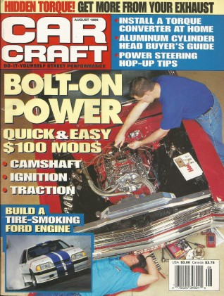 CAR CRAFT 1996 AUG - 426 FURY, SHELBY GT350 # 54, GTO