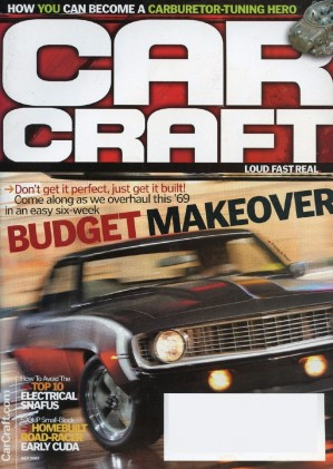 CAR CRAFT 2005 JULY - COOL CUDA, RARE FE PARTS
