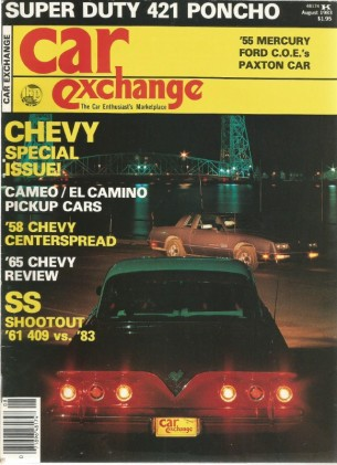 CAR EXCHANGE 1983 AUG - SS VS. SS PAXTON, '55 MERCURY, CAMEO, EL CAMINO, SPRINT