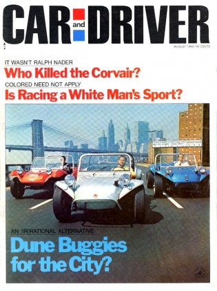 CAR & DRIVER 1969 AUG - McLAREN, CORVAIR, SUNBEAM