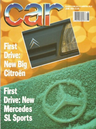 CAR MAGAZINE 1989 JUNE - CITROEN XM, NEW ALFA ES30