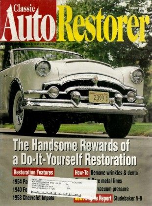 CLASSIC AUTO RESTORER 1997 FEB - 40 FORD COUPE, 58 IMPALA, 54 PACKARD CARIBBEAN