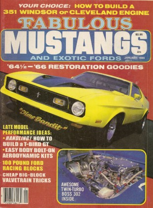 FABULOUS MUSTANGS 1986 JAN - MONSTER 302 BUILT, GT500KR